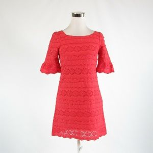 Red ANTHROPOLOGIE MOULINETTE SOEURS dress 0